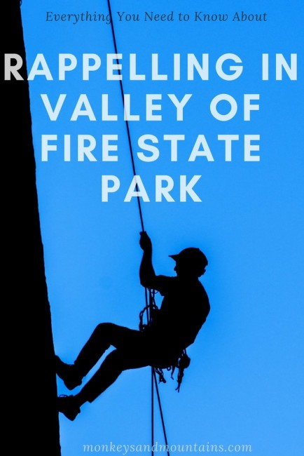 Valley of Fire State Park is a gorgeous place to try rappelling