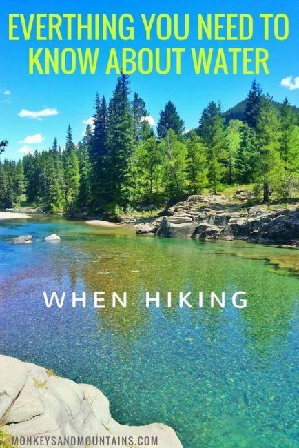 what you need to know about water when hiking