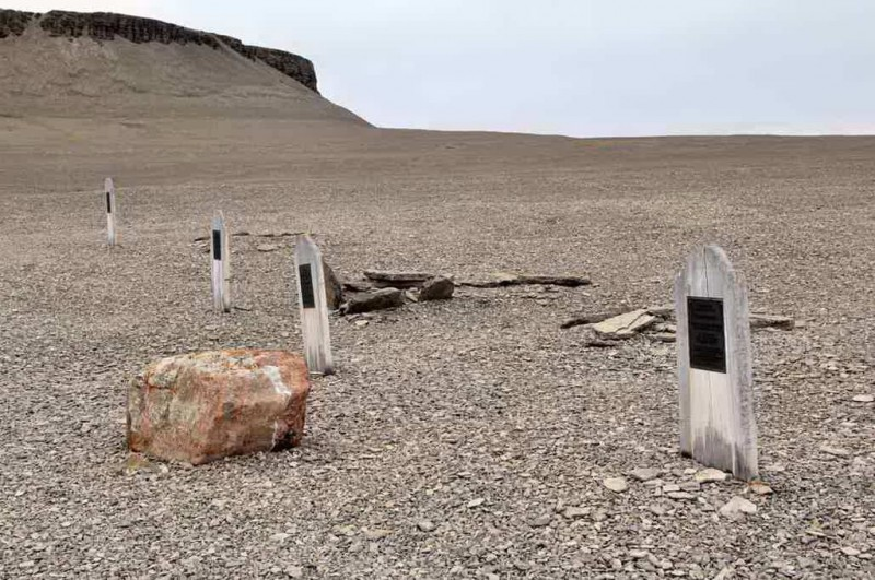 Graves from the Franklin Expedition on Prince Leopold / Beechey Island is a stop on your Arctic Adventure.