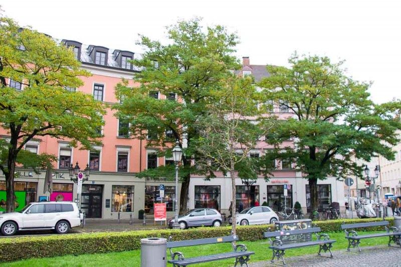Altbau (old buildings) in Munich, Germany