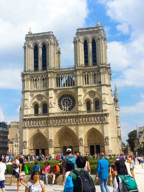 Notre Dame is an excellent example of French Gothic architecture.