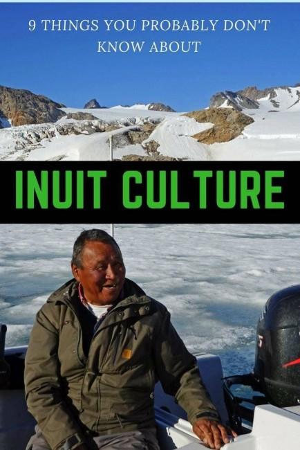 Greenlandic Inuit on his boat