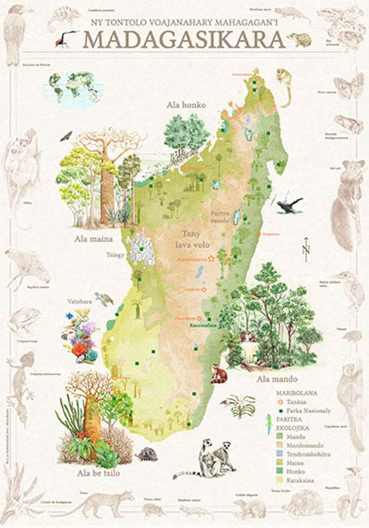 ecosystem map of Madagascar