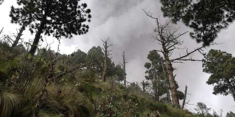 Fuego volcano eruption from Acatenango Volcano Guatemala
