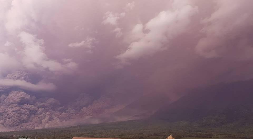Fuego volcano eruption Guatemala