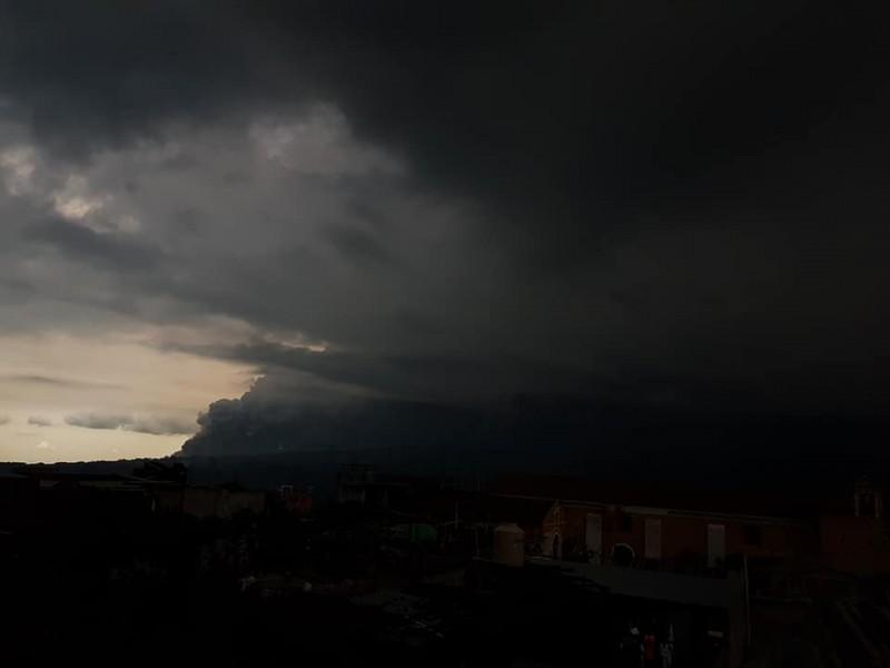 Fuego volcano eruption from Alotenango Guatemala