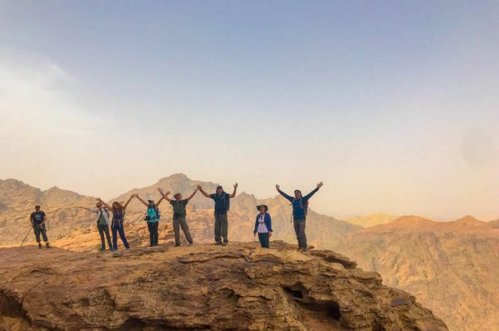 happy hikers on the Jordan Trail