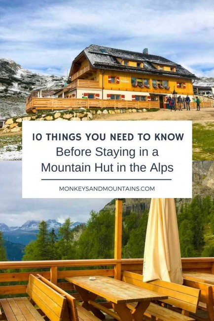 10 Things You Need to Know Before Staying in a Mountain Hut in the Alps