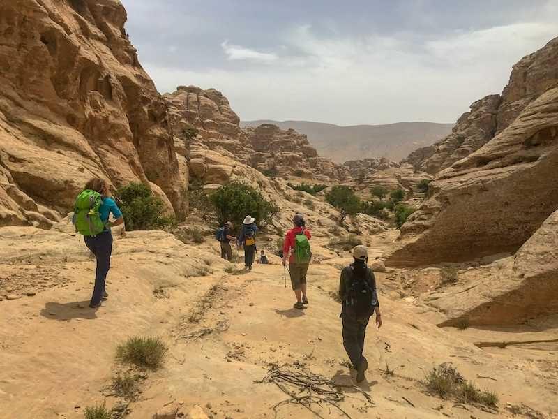 hikers on the Jordan Trail
