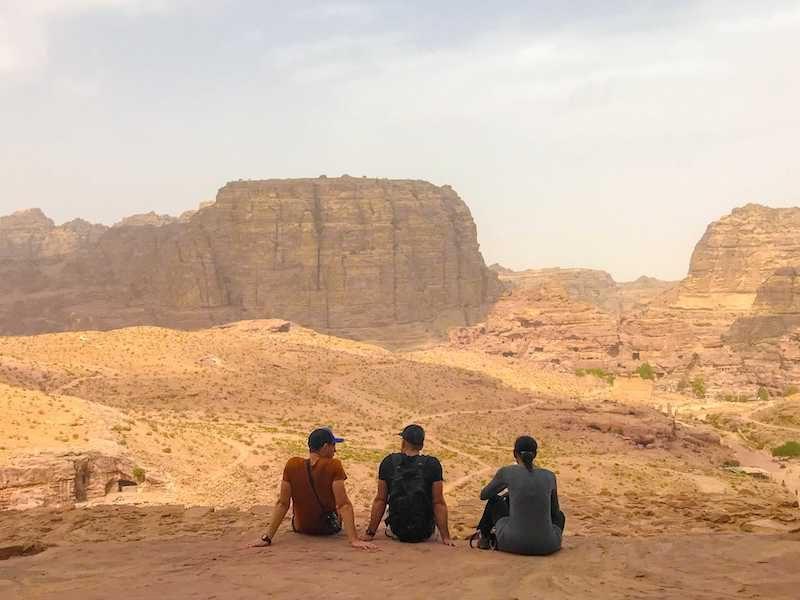 hiking the Jordan Trail on a guided trek