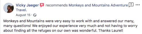 review of TMB hiking tour