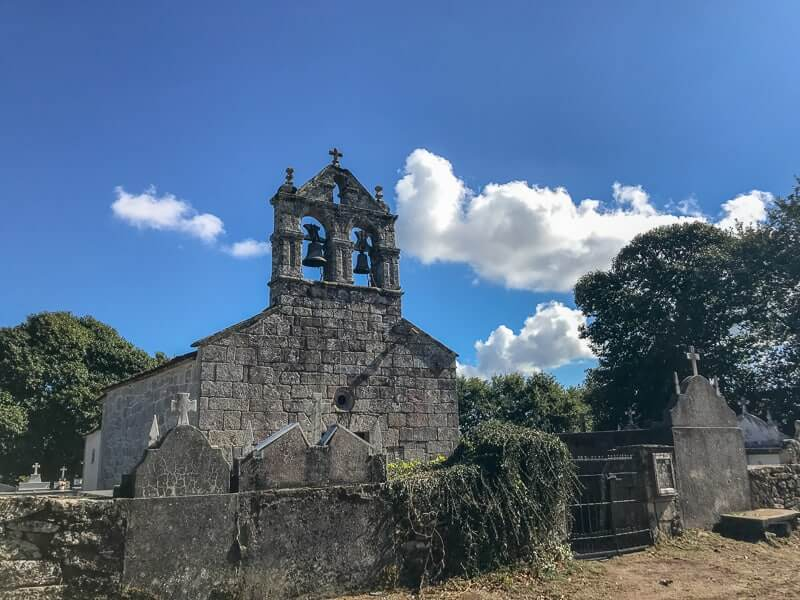 pilgrims will pass many old churches like this one when walking the Camino