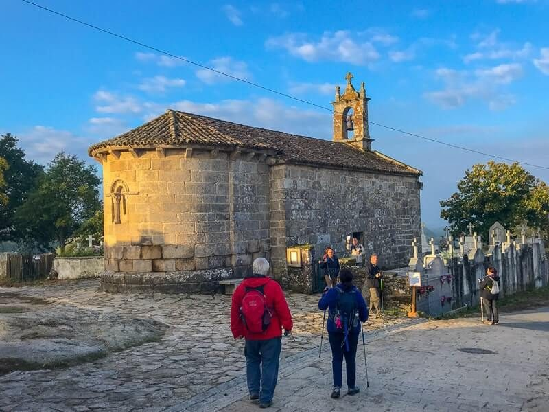 hike by churches and through medieval towns on the Camino