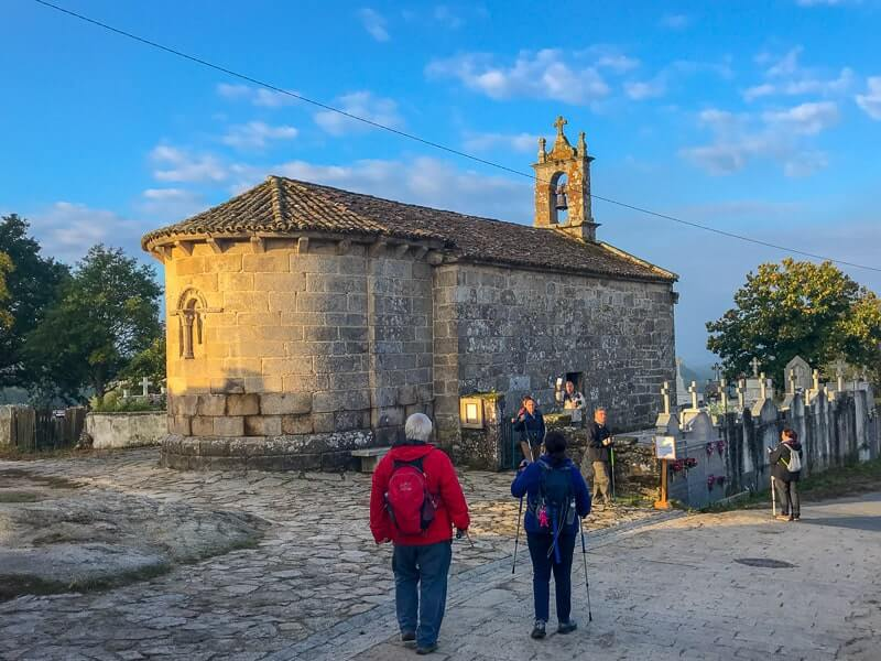 Church on the Camino de Santiago.