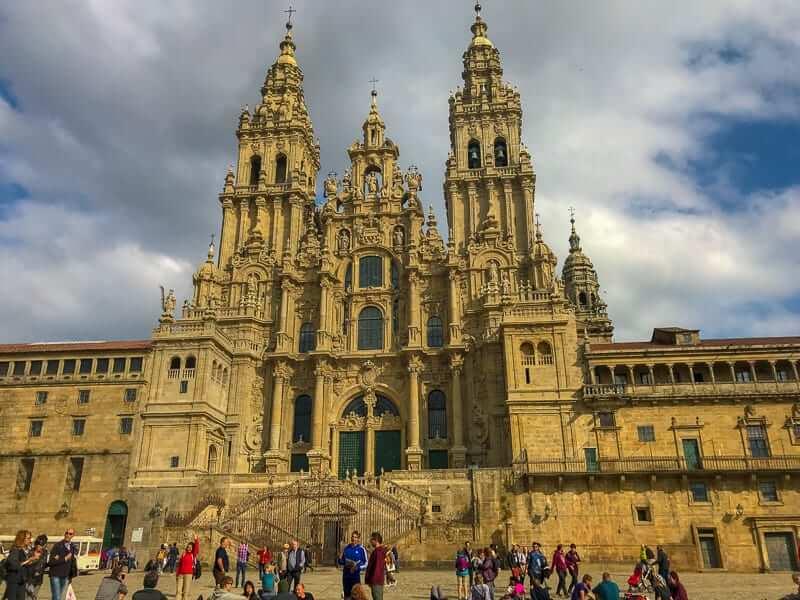 Santiago de Compostela Cathedral is the endpoint of the Camino de Santiago.