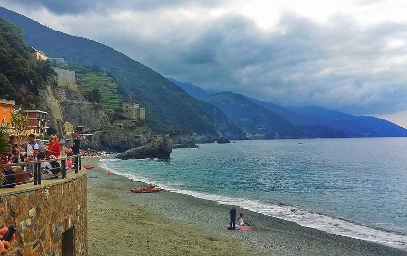 Sea views of the Italian Riviera.