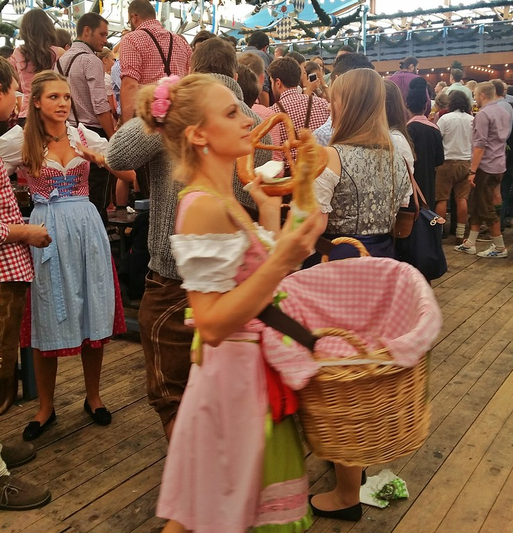 You'll see lots of pretzels for sale at Oktoberfest. Be warned, they make you thirsty...for more beer!