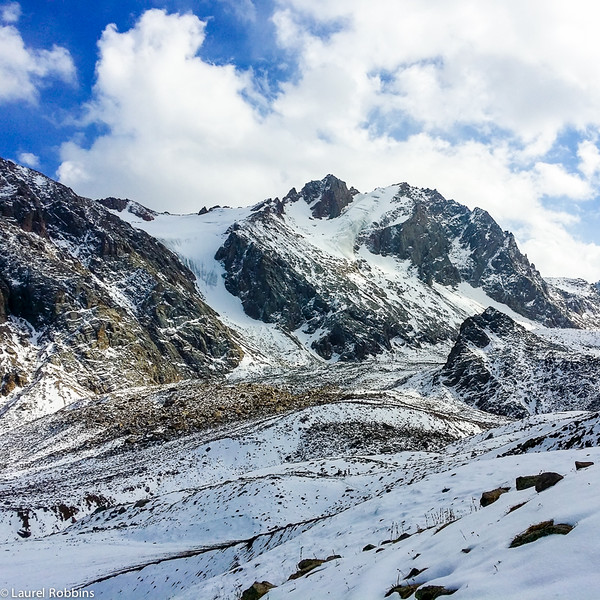 Glaciers at the top of Shymbulak Ski Resort near Almaty, Kazakhstan.