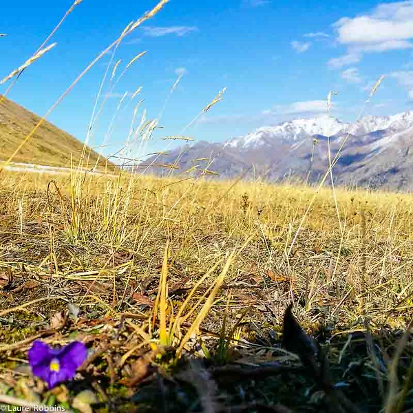 At the top of Shymbulak in the Tien Shan Mountains near Almaty, Kazakhstan.