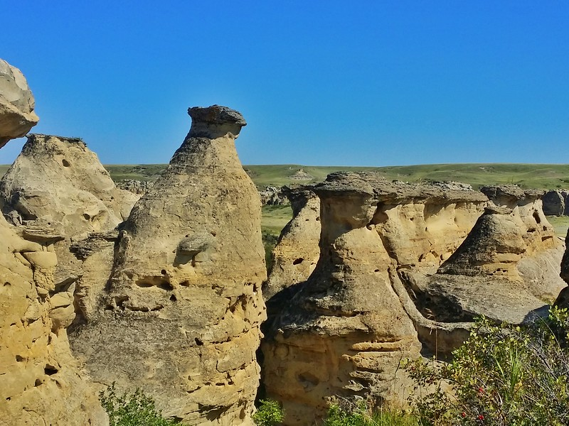 The Hoodoos were formed by thousands of years of erosion.