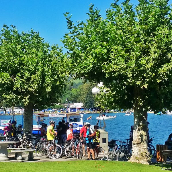 The Wörthersee is a popular cycling destination in Carinthia.