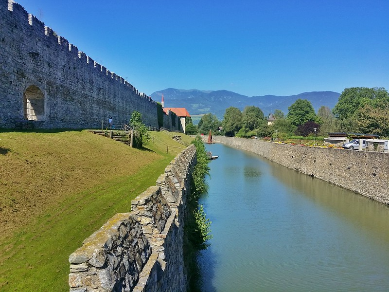 The 820-long metre moat in Friesach is one of the most impressive in Europe.