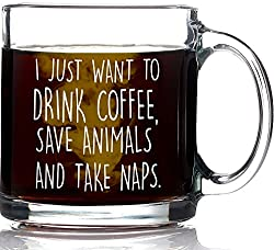 This coffee mug is a great gift for animal lovers