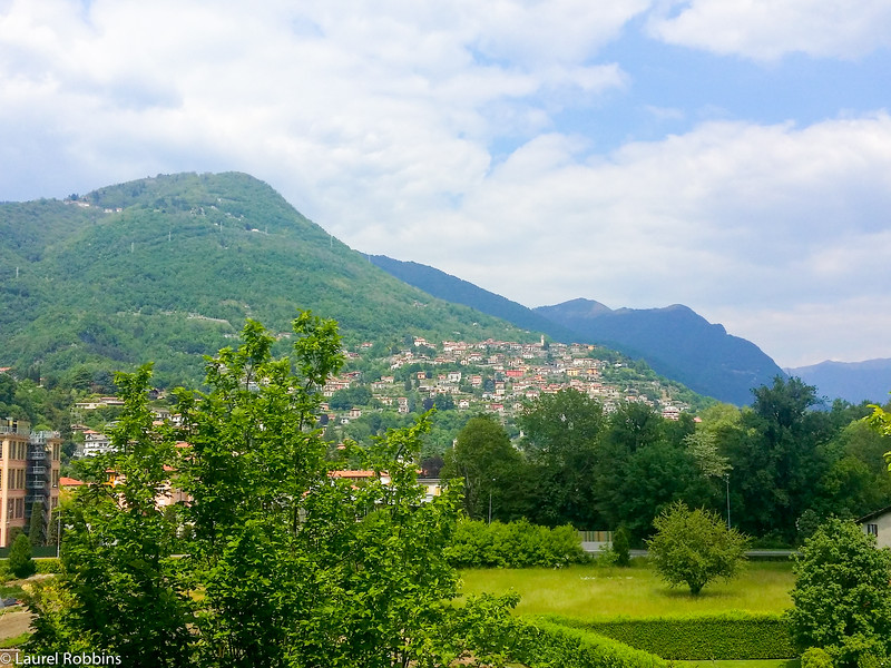 Mountain view from my hotel room at the Sheraton Lake Como Hotel.