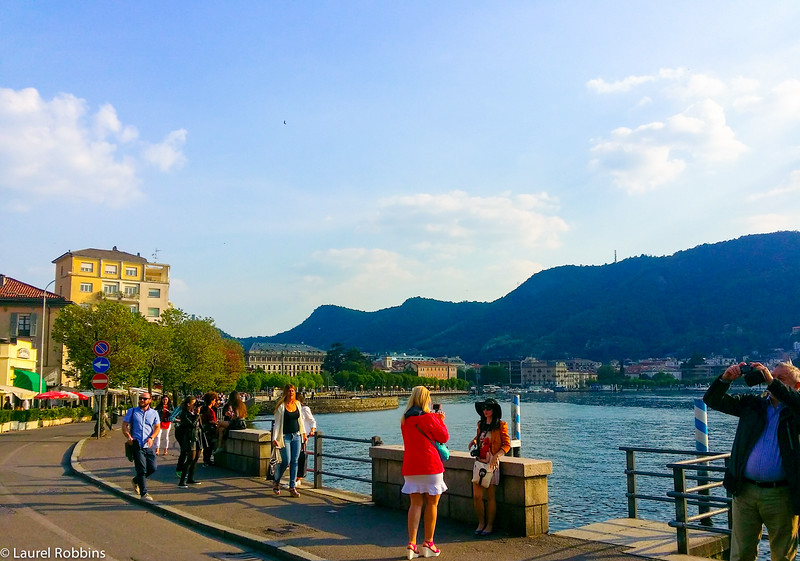 Taking a walk along the lakeshore was one of the highlights of my visit to Como in Italy.
