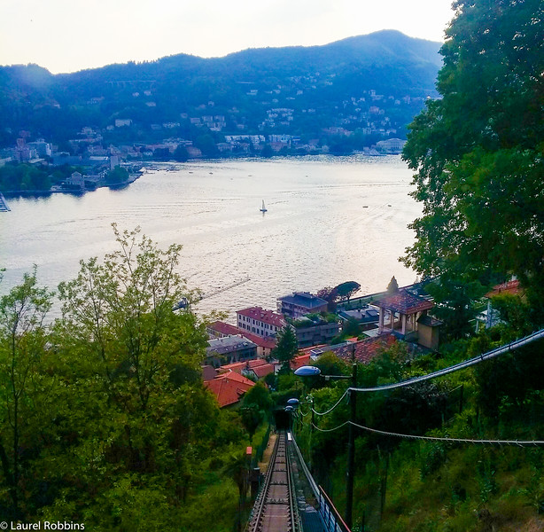 View over Como from the Brunate funicular.