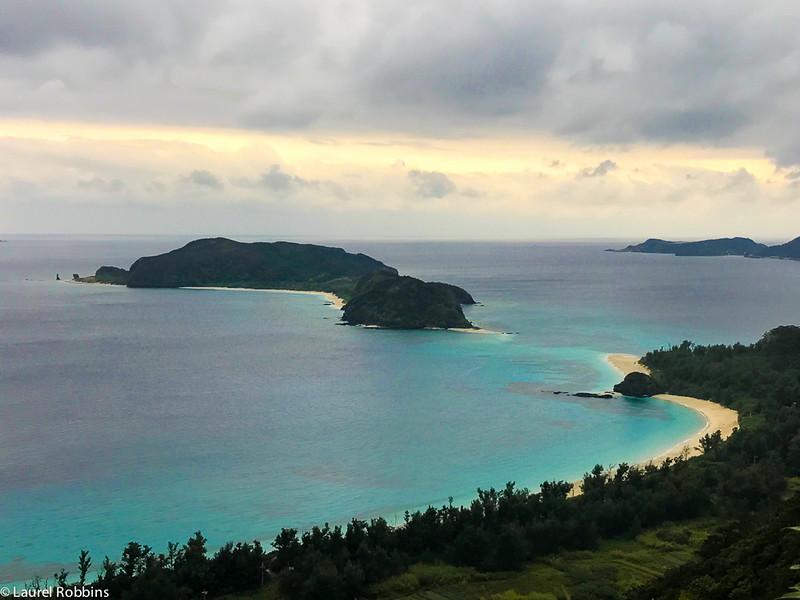 View of uninhabited islands as seen from Zamami, one of the Kerama Islands in Okinawa, Japan.