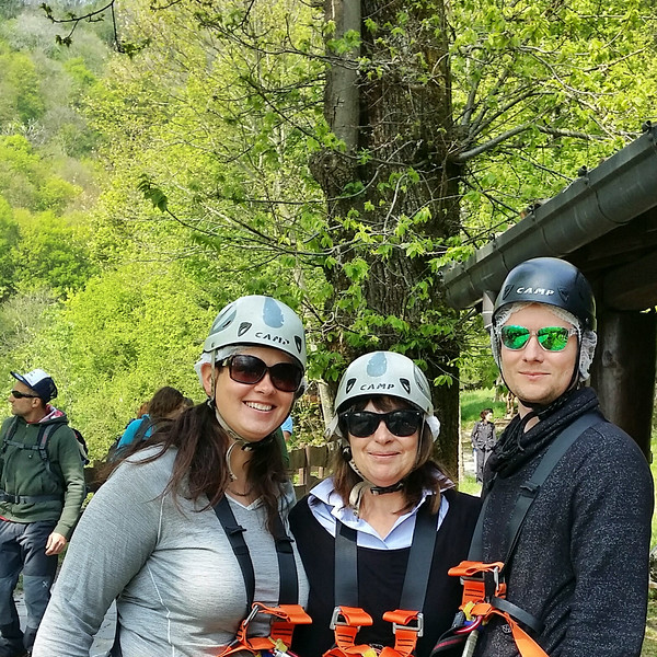 ziplining adventures at Jungle Raider Park Xtreme in Como, Italy