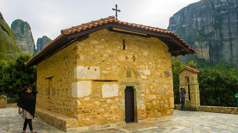chapel in one of the Meteora monasteries in Greece.