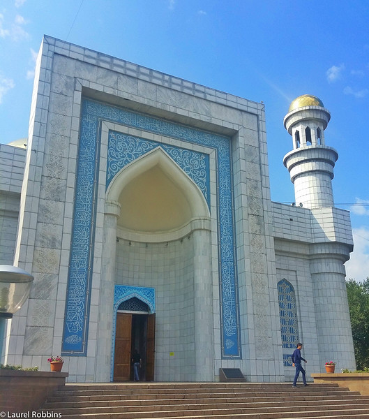 The Central Mosque of Almaty Kazakhstan. It's the largest of the 40+ found in the city.