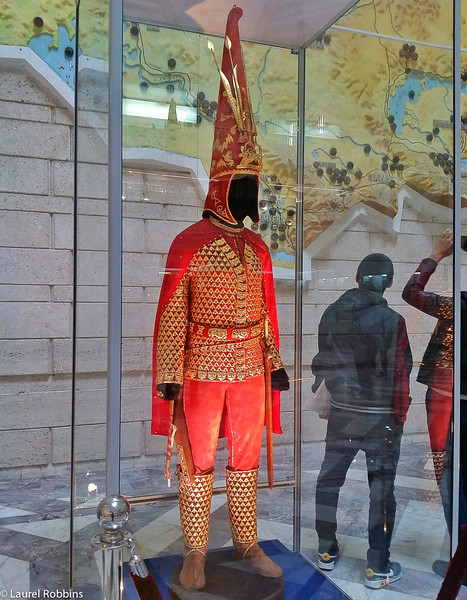 The Golden Man at the Central State Museum in Almaty Kazakhstan