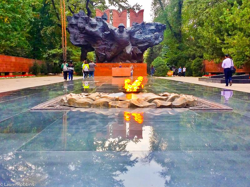 """World War II monument """"Feat"""" in Almaty Kazakhstan."""