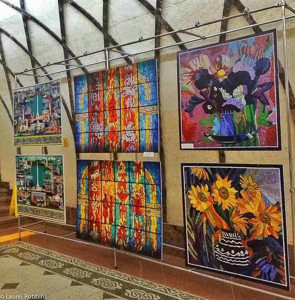 "The metro stations in Almaty Kazakhstan are called ""Palaces for the People"" and filled with artwork for all to enjoy."