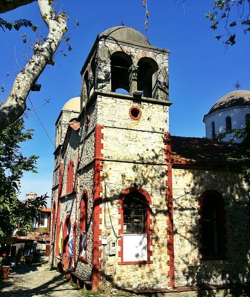 The church in Old Panteleimonas is dedicated to St. Panteleimonas.