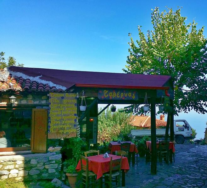 traditional Greek Taverna in Old Panteleimonas Greece