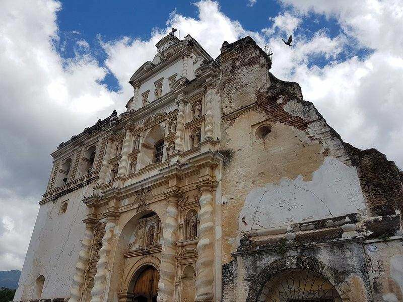 Travellers will enjoy exploring the churches and artwork inside when visiting Antigua Guatemala