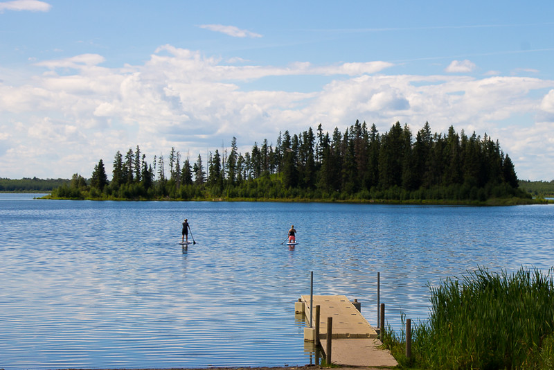 SUP on Astotin Lake