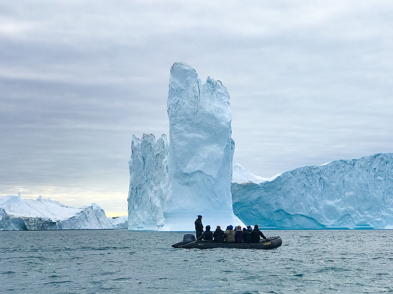 A zodiac ride to see the huge icebergs of Ilulissat was one of the highlights of our Arctic adventure.