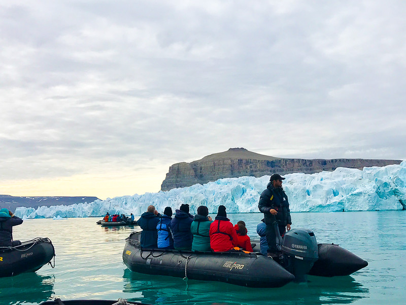Zodiac rides to exciting destinations like the Devon Island Icecap are a regular part of your Arctic adventure.