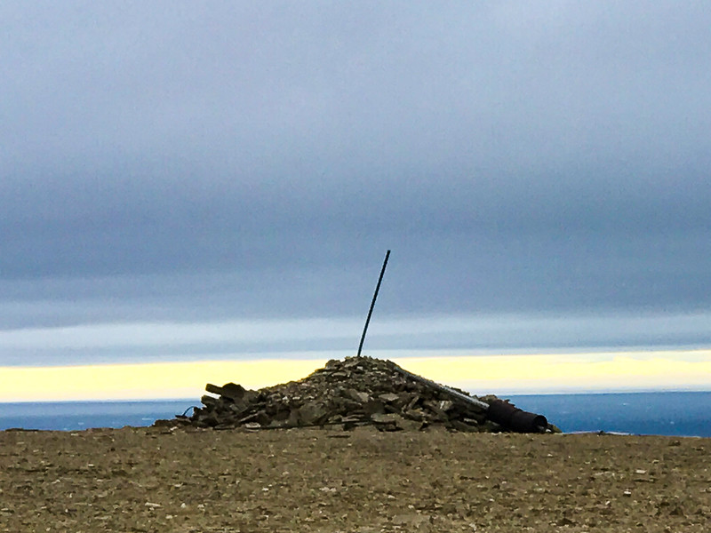 Franklin's men built a cairn on Beechey Island to leave message for other ships.