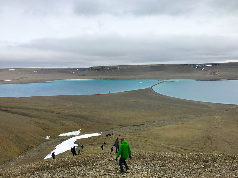 Your Arctic adventure includes hiking opportunities, including hiking on Beechey Island.