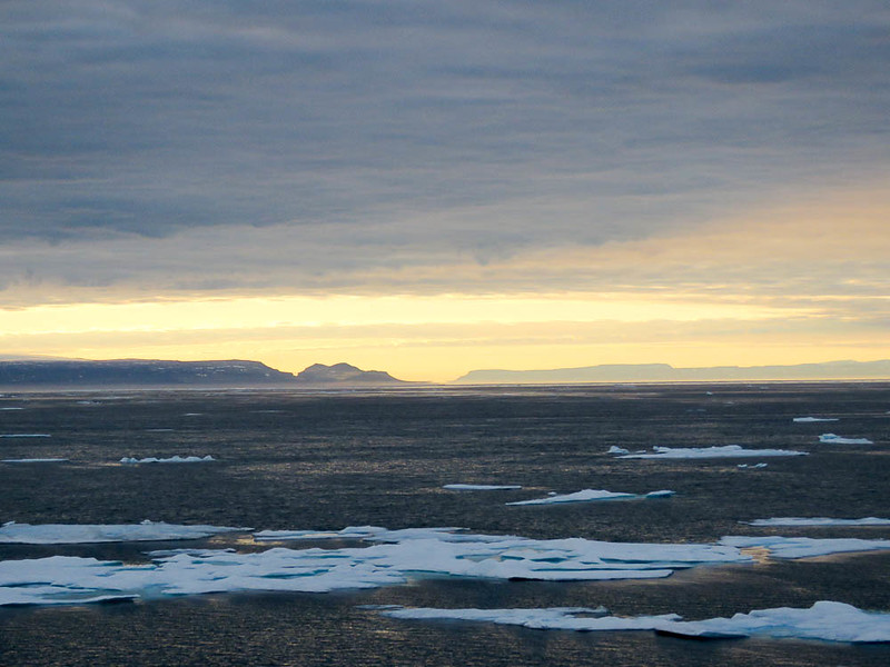 Sunset in the Arctic. Depending on the time of year and how far north you are, it may never set.