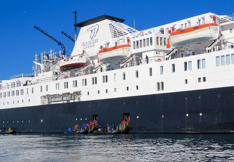 You'll travel on the Ocean Endeavor on your Arctic adventure.