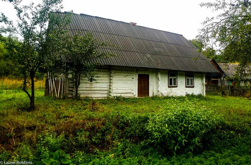 Old traditional Ukrainian farmhouse in the Carpathian mountains.