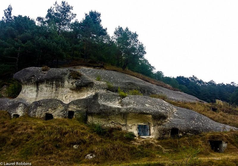 8th century caves of the Stilsko settlement in the Ukrainian Carpathian mountains.