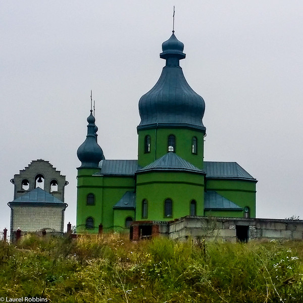 It's common to see many churches in villages in the Carpathians in Ukraine.